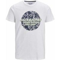 Jack & Jones! Jongens Shirt Korte Mouw – Maat 176 – Wit – Katoen