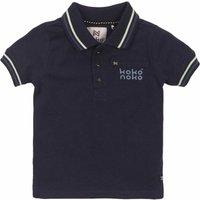 Koko Noko! Jongens Polo Korte Mouw – Maat 80 – Donkerblauw – Katoen/elasthan