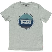 Levis! Jongens Shirt Korte Mouw – Maat 176 – Grijs – Katoen/elasthan