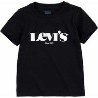 Levis! Jongens Shirt Korte Mouw – Maat 92 – Zwart – Katoen