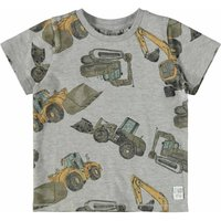 Name It! Jongens Shirt Korte Mouw – Maat 104 – All Over Print – Katoen/elasthan
