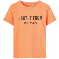 Name It! Jongens Shirt Korte Mouw – Maat 104 – Oranje – Katoen/elasthan