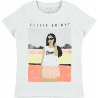 Name It! Meisjes Shirt Korte Mouw – Maat 128 – Wit – Katoen/elasthan