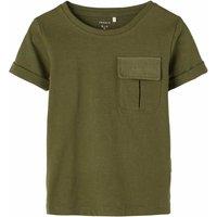 Name It! Jongens Shirt Korte Mouw – Maat 98 – Donkergroen – Katoen