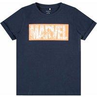 Name It! Jongens Shirt Korte Mouw – Maat 128 – Donkerblauw – Katoen/elasthan