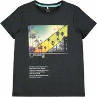 Name It! Jongens Shirt Korte Mouw – Maat 152 – Zwart – Katoen/elasthan