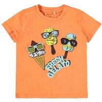 Name It! Jongens Shirt Korte Mouw – Maat 110 – Oranje – Katoen