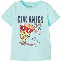 Name It! Jongens Shirt Korte Mouw – Maat 104 – Turquoise – Katoen