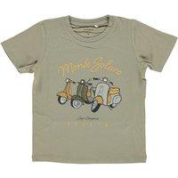 Name It! Jongens Shirt Korte Mouw – Maat 110 – Olijfgroen – Katoen/elasthan