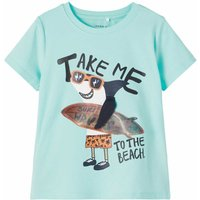 Name It! Jongens Shirt Korte Mouw – Maat 98 – Mint – Katoen/elasthan