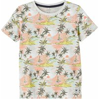 Name It! Jongens Shirt Korte Mouw – Maat 152 – All Over Print – Katoen/viscose