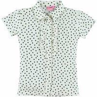 OChill! Meisjes Blouse Korte Mouw – Maat 152 – Off White – Polyester/elasthan