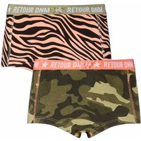 Retour Denim! Meisjes 2-pack Boxer – Maat 176 – All Over Print – Katoen/elasthan
