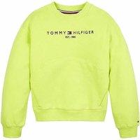 Tommy Hilfiger! Meisjes Sweater – Maat 176 – Lime – Katoen