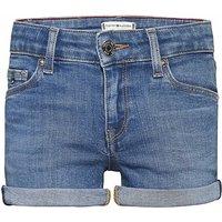 Tommy Hilfiger! Meisjes Korte Broek – Maat 176 – Denim – Jeans