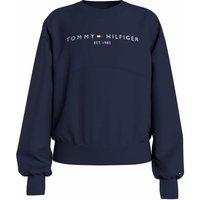 Tommy Hilfiger! Meisjes Sweater – Maat 176 – Donkerblauw – Katoen/elasthan