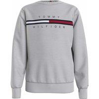 Tommy Hilfiger! Jongens Sweater – Maat 176 – Lichtgrijs – Katoen/elasthan