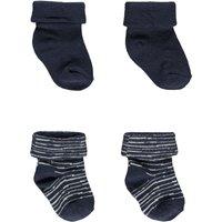 Bess! Jongens 2-pack Sokken – Maat 62 – Diverse Kleuren – Katoen/polyester/elasthan