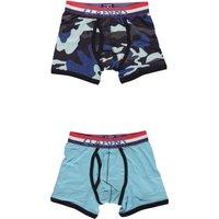 Claesens! Jongens 2-pack Boxers – Maat 164 – Blauw – Katoen/lycra