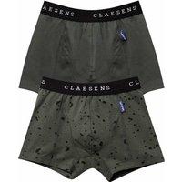 Claesens! Jongens 2-pack Boxers – Maat 116 – Legergroen – Katoen/lycra