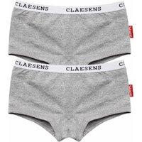 Claesens! Meisjes 2pack Boxer – Maat 104 – Grijs – Katoen/lycra