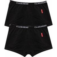 Claesens! Meisjes 2-pack Boxers – Maat 104 – Zwart – Katoen/lycra