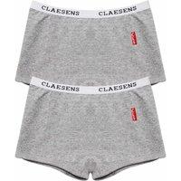 Claesens! Meisjes 2-pack Boxers – Maat 104 – Grijs – Katoen/lycra