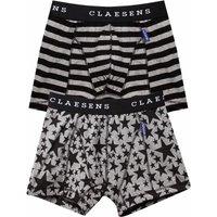 Claesens! Jongens 2-pack Boxers – Maat 164 – Diverse Kleuren – Katoen/lycra