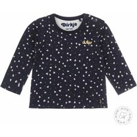 Dirkje! Meisjes Shirt Lange Mouw – Maat 44 – Donkerblauw – Katoen/elasthan