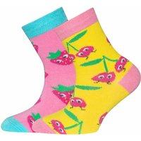 Ewers! Meisjes 2-pack Sokken – Maat 38 – All Over Print – Katoen/polyamide/elasthan