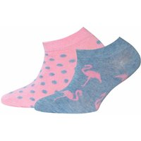 Ewers! Meisjes 2-pack Sokken – Maat 26 – Diverse Kleuren – Katoen/polyester/elasthan