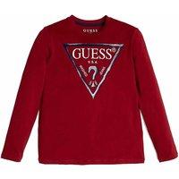 Guess! Jongens Shirt Lange Mouw – Maat 176 – Rood – Katoen