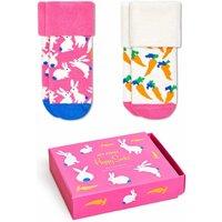 Happy Socks! Meisjes 2-pack Sokken – Maat 68 – All Over Print – Katoen/polyamide/elasthan