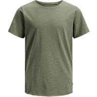 Jack & Jones! Jongens Shirt Korte Mouw – Maat 164 – Legergroen – Katoen