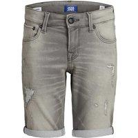 Jack & Jones! Jongens Bermuda – Maat 140 – Grijs – Jeans