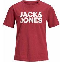 Jack & Jones! Jongens Shirt Korte Mouw – Maat 176 – Rood – Katoen