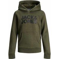 Jack & Jones! Jongens Sweater – Maat 176 – Donkergroen – Katoen/polyester