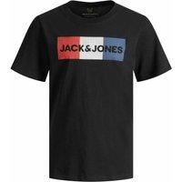 Jack & Jones! Jongens Shirt Korte Mouw – Maat 176 – Zwart – Katoen