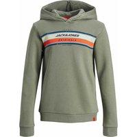 Jack & Jones! Jongens Sweater – Maat 176 – Olijfgroen – Katoen/polyester