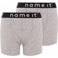 Name It! Jongens 2-Pack Boxer – Maat 116 – Grijs – Katoen/elasthan