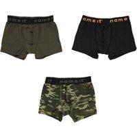 Name It! Jongens 3-Pack Boxer – Maat 116 – Diverse Kleuren – Katoen/elasthan