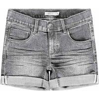 Name It! Meisjes Korte Broek – Maat 146 – Grijs – Jeans