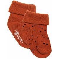 Noppies! Unisex 2-pack Sokken – Maat 74 – Oranje – Katoen/polyamide/elasthan