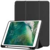 Apple iPad Air / Air 2 Smart Tri-Fold Tablethoes met Pen Houder - Zwart