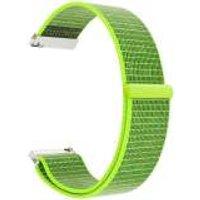Just in Case Nylon Armbandje met Klittenbandsluiting Samsung Gear S2 - Groen