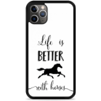iPhone 11 Pro Hardcase hoesje Life is Better with Horses