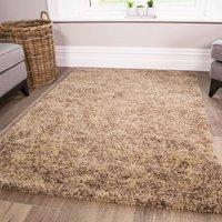 Luxurious Taupe Shaggy Living Room Rug - Murano