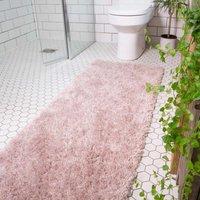 Super Soft Luxury Blush Pink Shaggy Runner Rug   Aspen