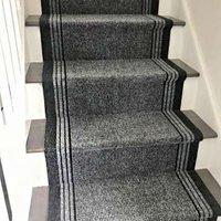 Grey Hard Wearing Stair Carpet Runner Rugs   Concorde