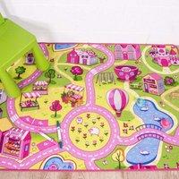 Kids Fun Pink Funfair Play Rug